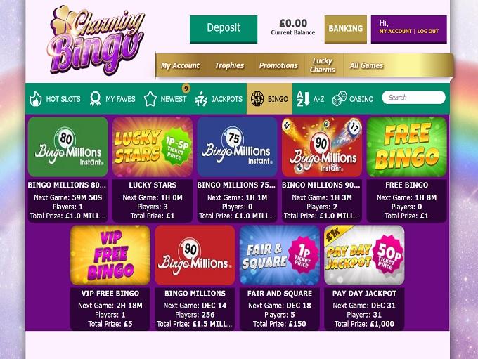 Charming Bingo Lobby