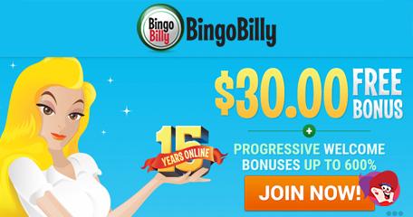 Bingo Billy's Promo Codes, Deposit Deals and Big Raffles