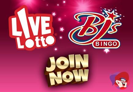 BJs Bingo and LiveLotto Now Live