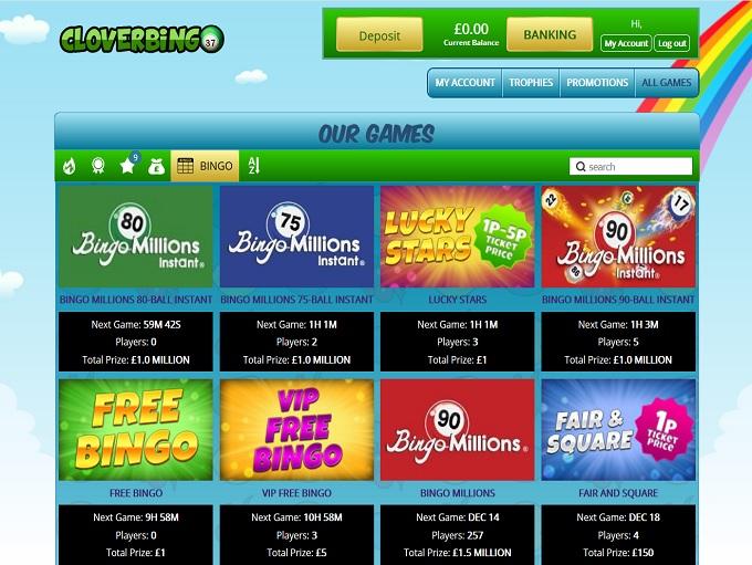 Clover Bingo Lobby