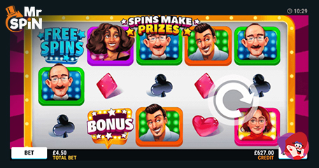 'Come on Down' in New No Deposit Mr Spin Slot