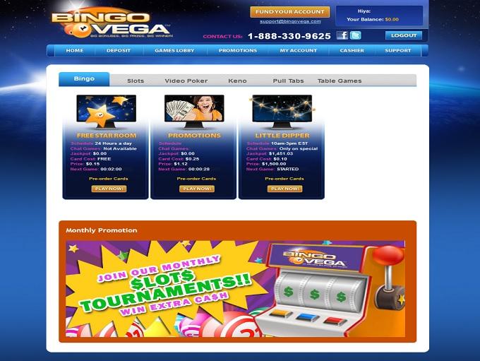 Bingo Vega Lobby