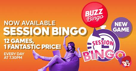 New Session Bingo from Buzz Bingo is a Hit!