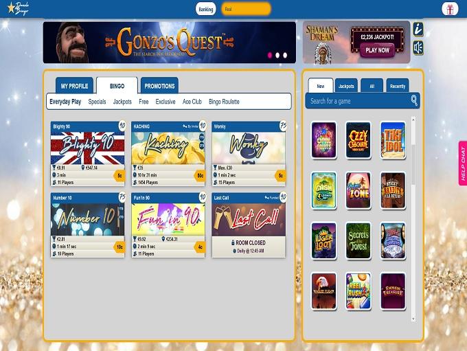 Dazzle Bingo Lobby
