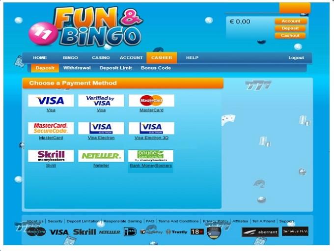 Fun and Bingo Cashier