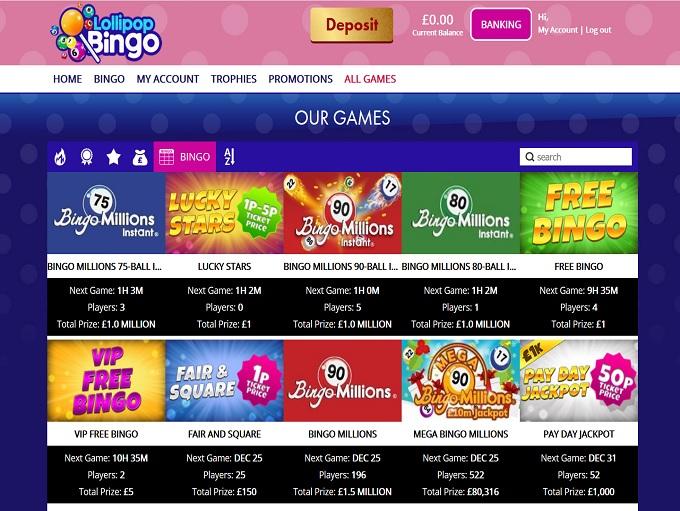 Lollipop Bingo Lobby