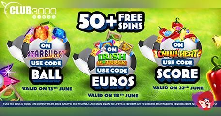 Get Set for Euro 2021 with Club 3000 Bingo