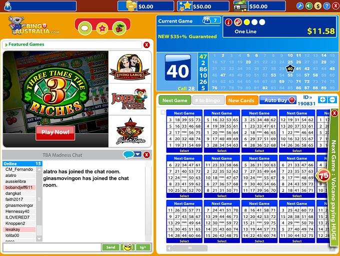 Bingo Australia Lobby