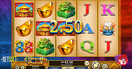 New Dragon & Phoenix Slot Packed with Fiery Cash and Superb Bonus Features