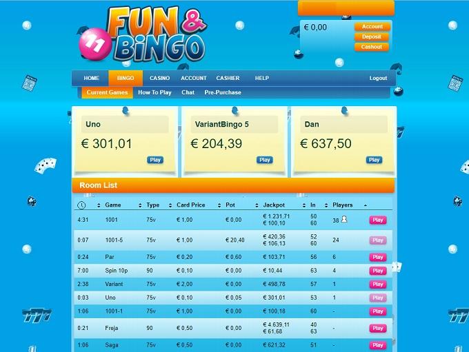 Fun and Bingo Lobby
