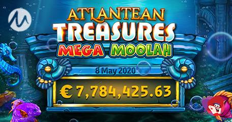 Atlantean Treasure Mega Moolah Sees Winner Dive into Win of More than €7.7million