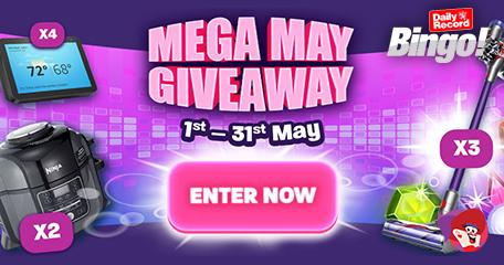 Mega May Giveaways and Bonus Spins Details