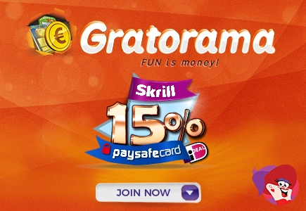 Gratorama Gives 15% Extra Bonus For Skrill Deposits