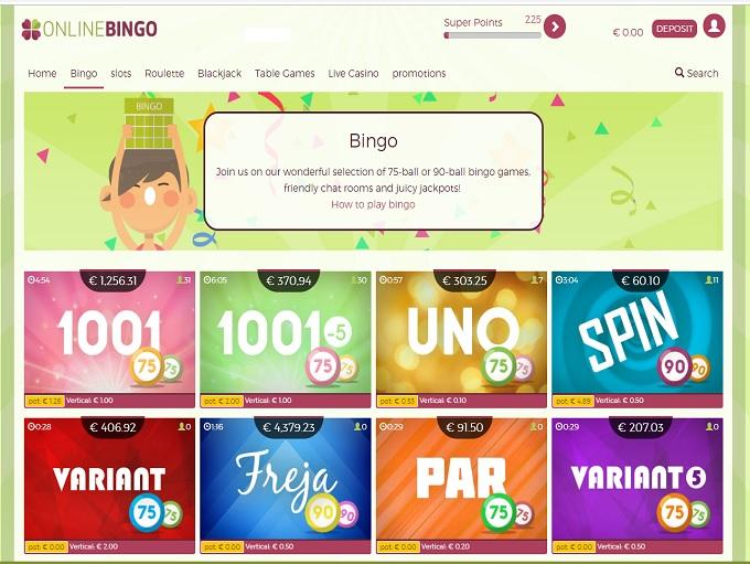 OnlineBingo.eu Lobby