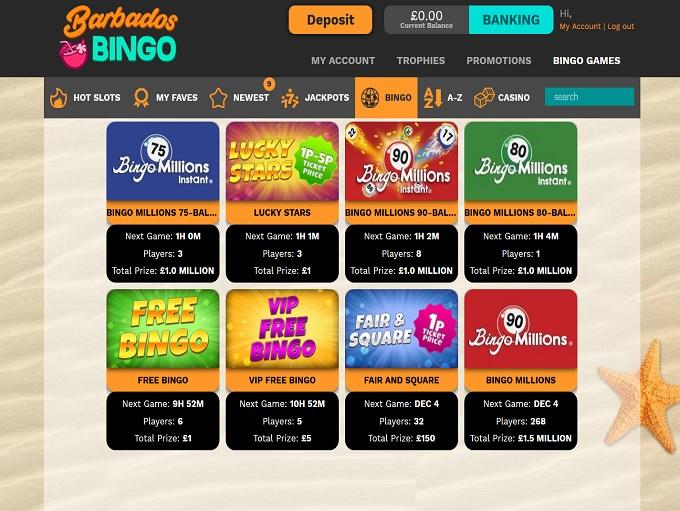 Barbados Bingo Lobby