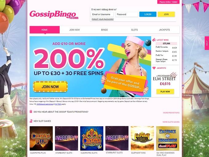 Gossip Bingo Home
