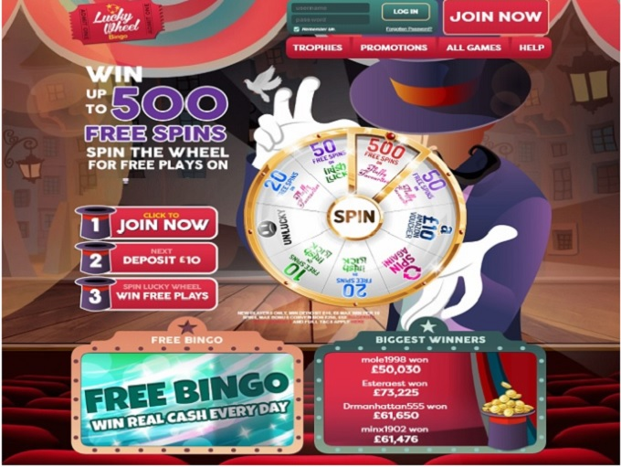Lucky Wheel Bingo Home
