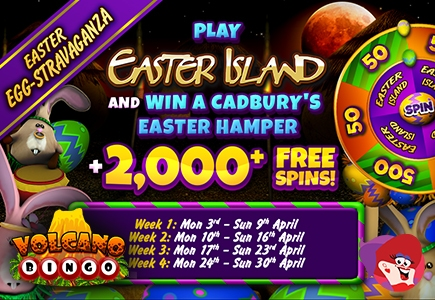 It's Easter all Month Long at Volcano Bingo
