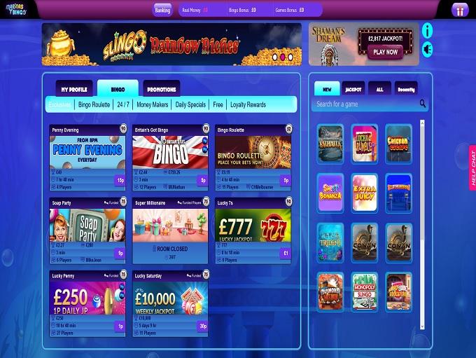 Marinas Bingo Lobby