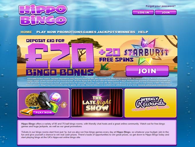Hippo Bingo Home