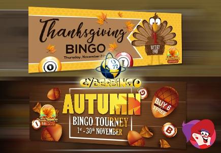 It's Thanksgiving Time On Cyber Bingo
