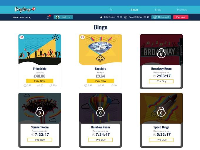 Rosy Bingo Lobby