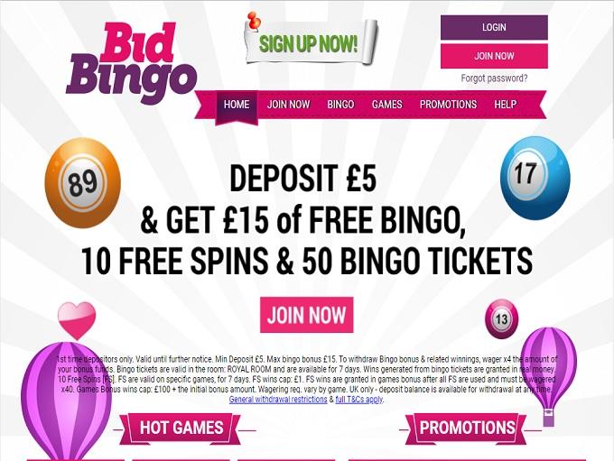 Bid Bingo Home