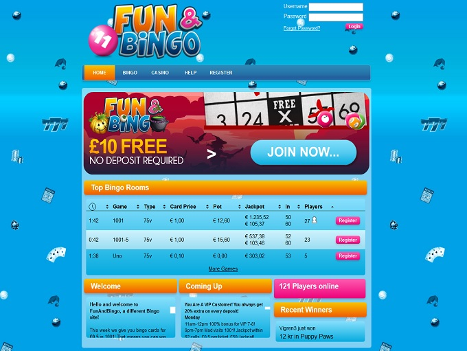 Fun and Bingo Home
