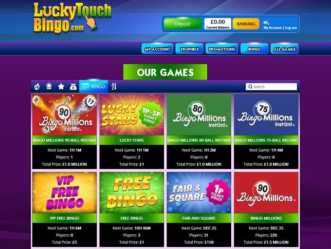 Lucky Touch Bingo Lobby