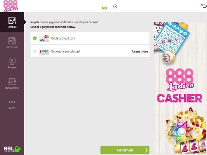 888 Ladies Bingo Cashier