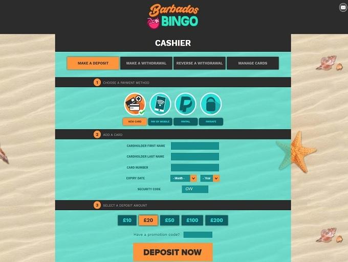Barbados Bingo Cashier