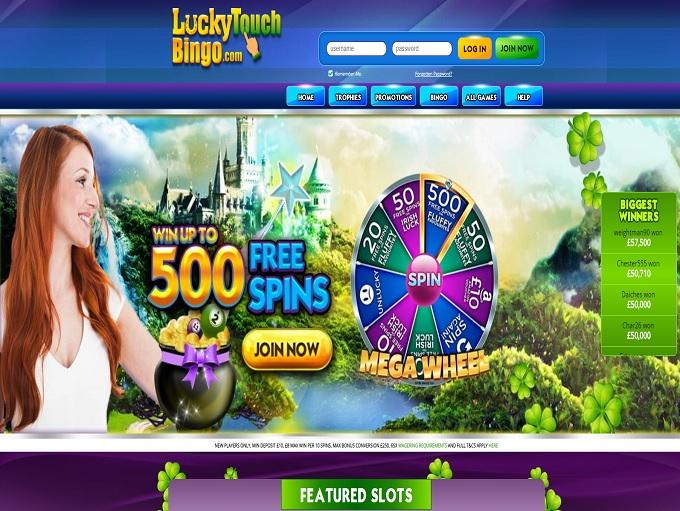Lucky Touch Bingo Home