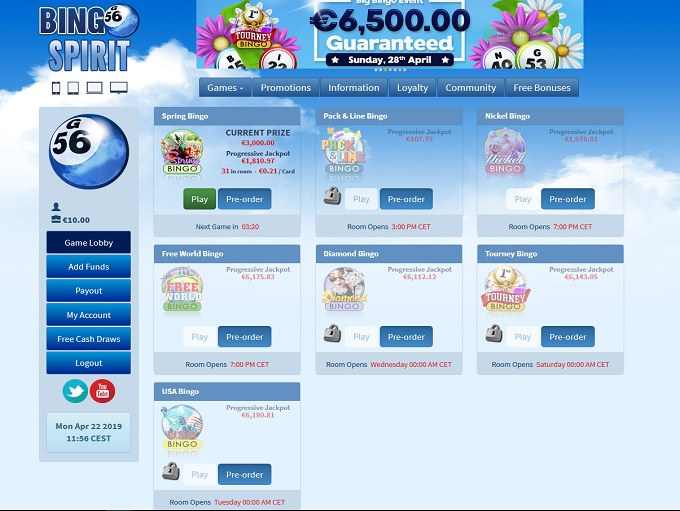 Bingo Spirit Lobby