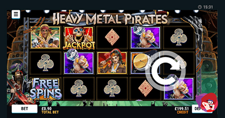 Bonus Spins at Mr Spin on Heavy Metal Pirates Slot