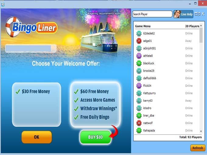 Bingo Liner Lobby