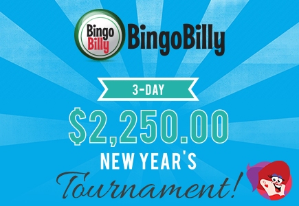 Opt in For Bingo Billy's 3-Day New Year's Tournament