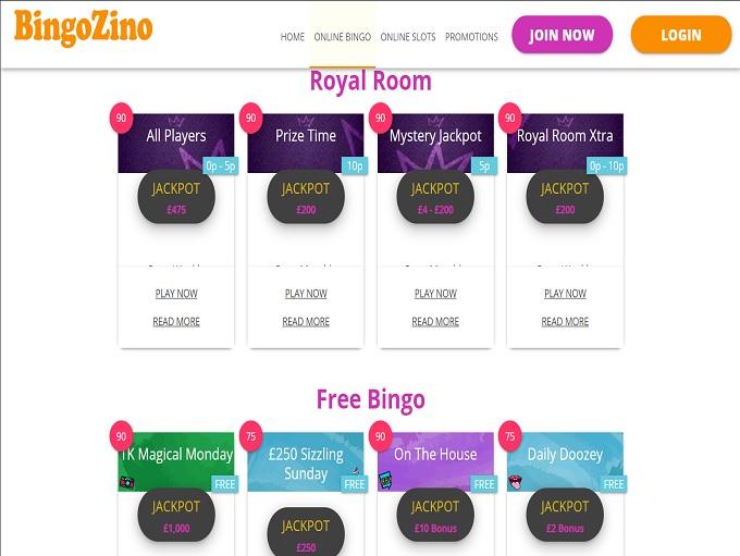 BingoZino Lobby