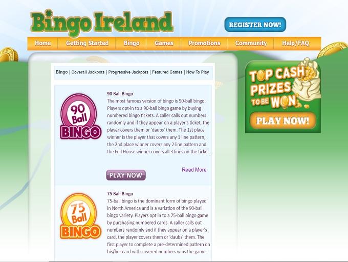 Bingo Ireland Games