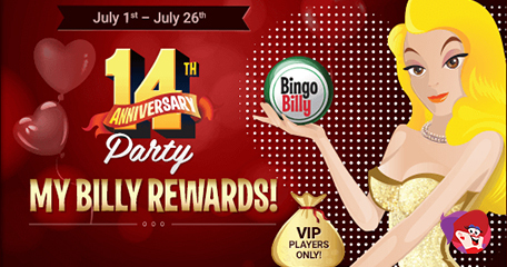 Have a Blast & Win Cash with Bingo Billy's 14th Anniversary Celebrations This July