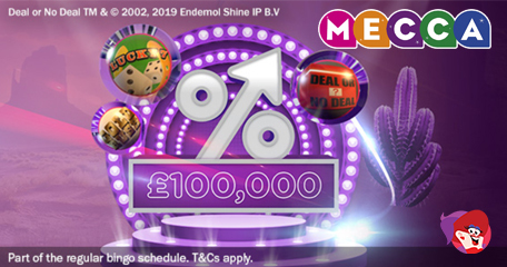 Huge Escalator Jackpots to be Won Every Saturday Throughout June – Only at Mecca Bingo