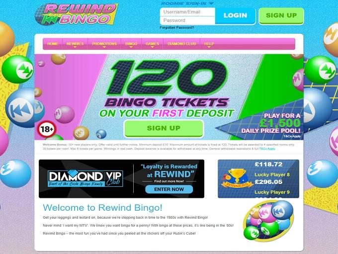 Rewind Bingo Home
