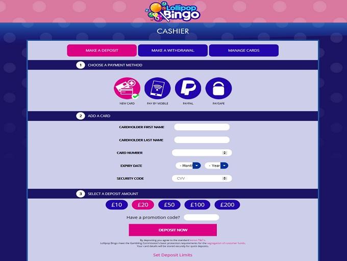 Lollipop Bingo Cashier