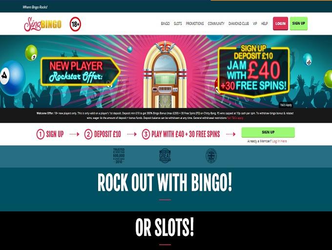 Sing Bingo Home Page