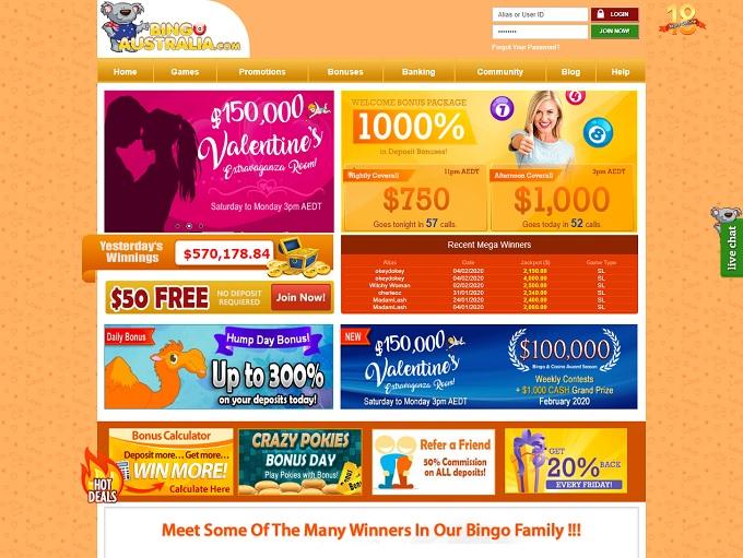 Bingo Australia Home