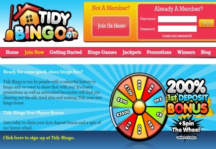 Tidy Bingo's Got Big Gifts for First-Time Players