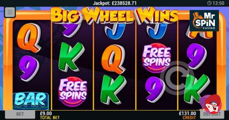 Big Wheel Wins Offers Plenty of No Deposit Spins at Mr Spin