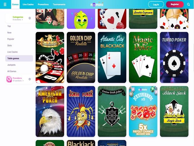 Nomini Casino Table Games