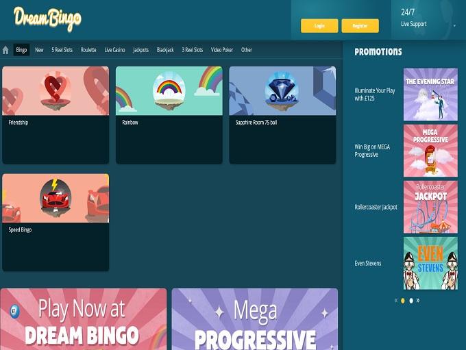 Dream Bingo Lobby