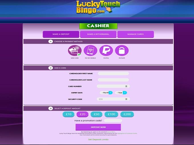 Lucky Touch Bingo Cashier