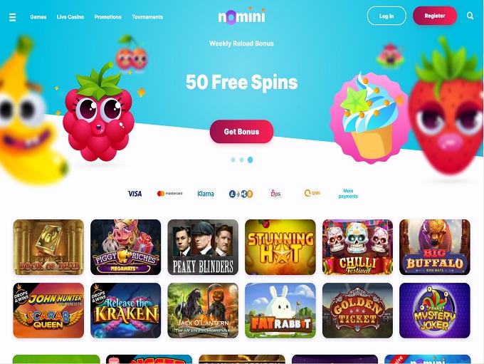 Nomini Casino Homepage